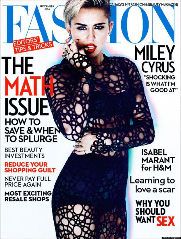 Miley Cyrus affiche un look plus classique sur la une du Fashion Magazine