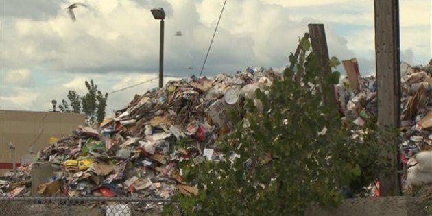 Le centre de tri de matières recyclables de Saint-Michel non