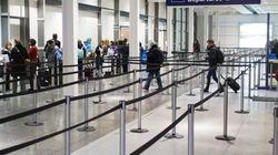 Manifestation des cols bleu à l'aéroport Montréal-Trudeau