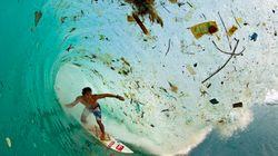 Des vagues de déchets en Indonésie