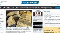 Le site Internet du Toronto Star est maintenant