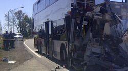 Collision entre un train et un autobus: un survivant raconte
