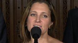L'ex-journaliste Chrystia Freeland devient candidate pour le PLC à