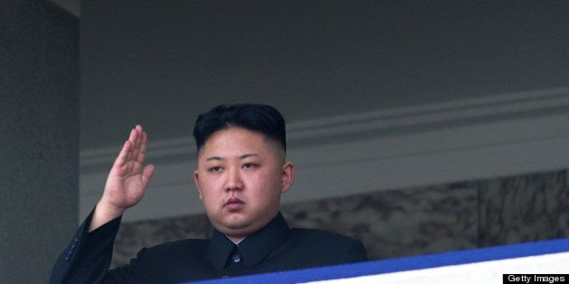 TO GO WITH Oly-2012-PRK,FEATURE (FILES) This file photo taken on April 15, 2012 shows North Korean leader...