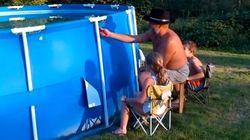 Comment vider une piscine en moins de deux secondes?