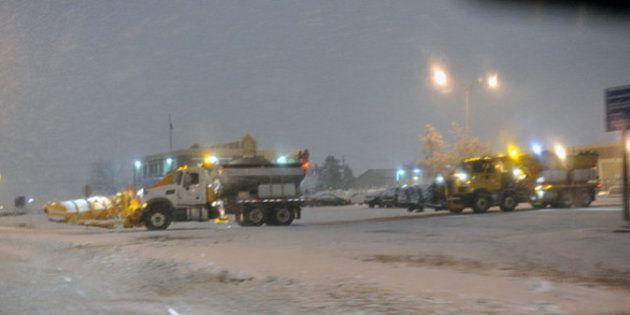 Chutes de neige: prudence sur les routes du