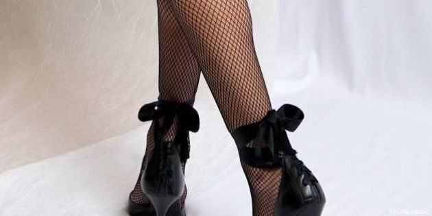 pretty erotic woman legs