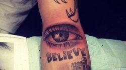 Justin Bieber nous montre son nouveau tatouage