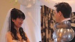 Insolite: Des chevaliers, des ninjas et des supers-héros s'invitent à un mariage