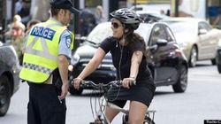 Cyclistes montréalais, les policiers vous ont à
