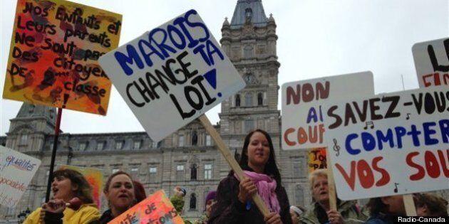 Québec: manifestation des propriétaires de garderies