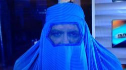 Richard Martineau en burqa à