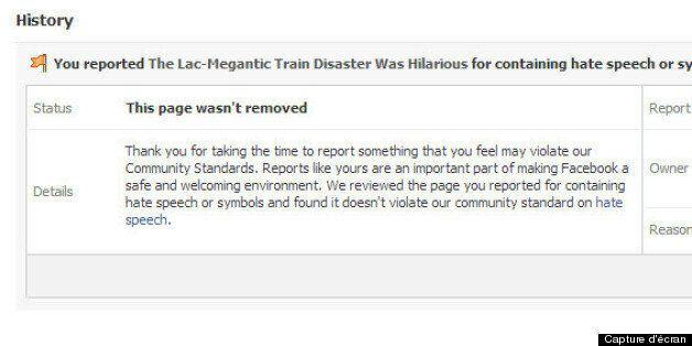 Facebook retire une page qui se moquait de la tragédie de