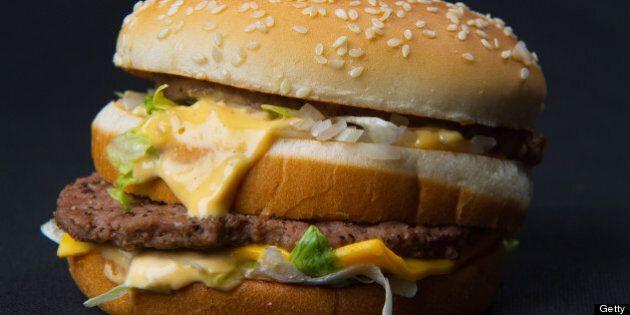 A photo of a McDonalds' Big Mac hamburger November 2, 2010. AFP Photo/Paul J. Richards (Photo credit...