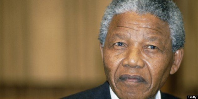 GERMANY - JUNE 12: Nelson Mandela's visit in Bonn, Germany on June 12, 1990-With Willy Brandt. (Photo...