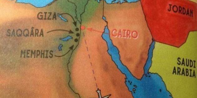 Israël rayé par erreur de la carte dans un livre pour