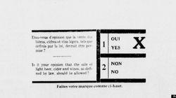 L'incroyable victoire du «oui» au premier référendum