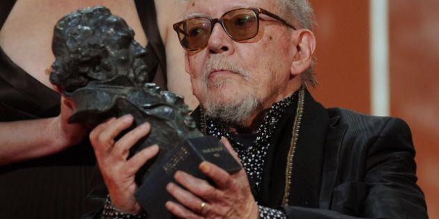 MADRID, SPAIN - FEBRUARY 01: Spanish director Jesus Franco is awarded an honorary Goya for his lifetime...