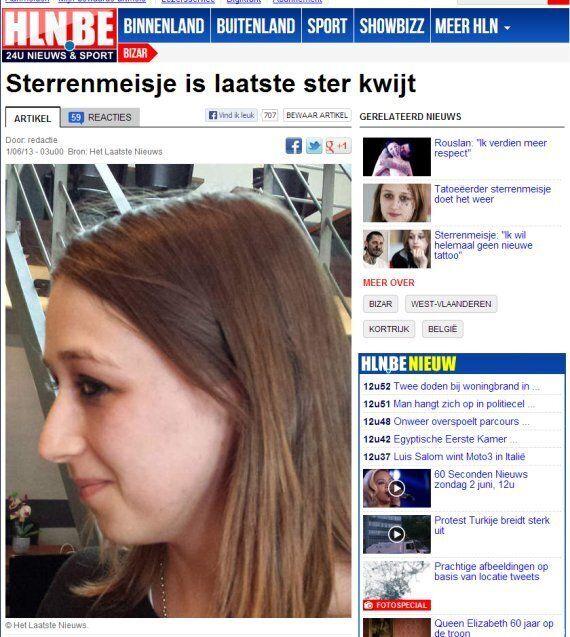 Kimberley Vlaeminck, la fille aux 56 tatouages en étoiles a réussi à se les faire retirer au laser