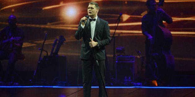 SUNRISE, FL - NOVEMBER 02: Michael Buble performs at BB&T Center on November 2, 2013 in Sunrise, Florida....
