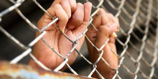 hands of the prisoner in