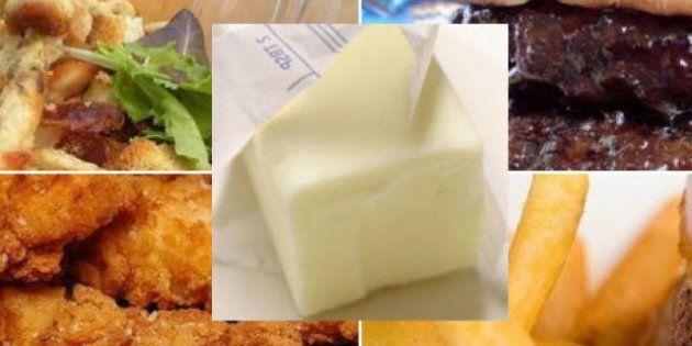 Le gras dans la nourriture: sept aliments plus gras qu'une motte de beurre