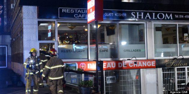 Incendie criminel nocturne dans un restaurant de Montréal: pas de