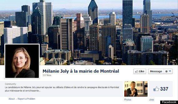Mairie de Montréal: une page Facebook non-officielle pour Mélanie