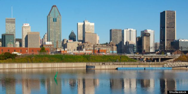 reflection of montreal skyline...