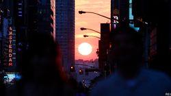 «Manhattanhenge»: le plus beau coucher de soleil des New-Yorkais