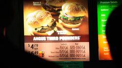 Afficher les calories dans les «fast-foods» n'aurait pas