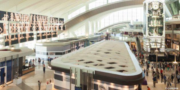 Moment Factory transforme un terminal de l'aéroport international de Los