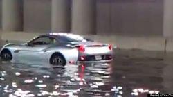 Inondations à Toronto : un conducteur abandonne sa Ferrari dans un tunnel