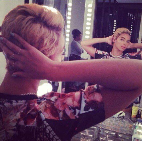 La nouvelle coupe de cheveux à la garçonne de Beyoncé sur Instagram