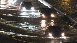 Des inondations perturbent la circulation sur le réseau routier à
