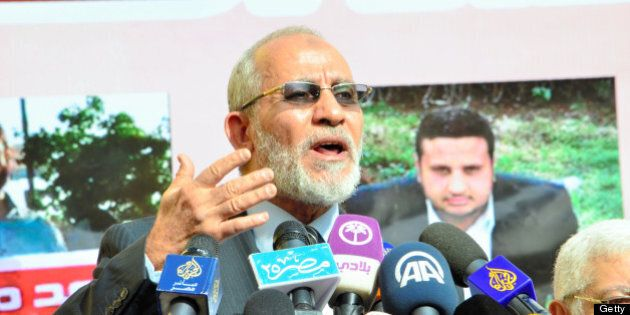 CAIRO, EGYPT - DECEMBER 08: (CHINA OUT, SOUTH KOREA OUT) Muslim Brotherhood Supreme Guide Mohammed Badie...