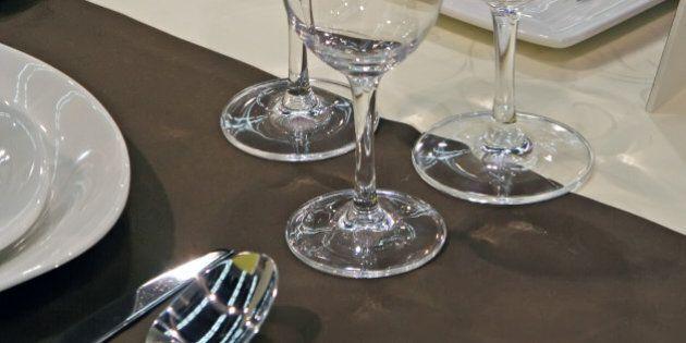 restaurant table set.