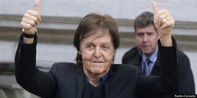 Paul McCartney est arrivé à