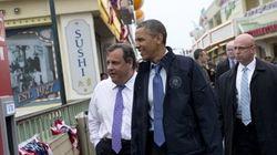 Barack Obama au New Jersey sept mois après la mégatempête