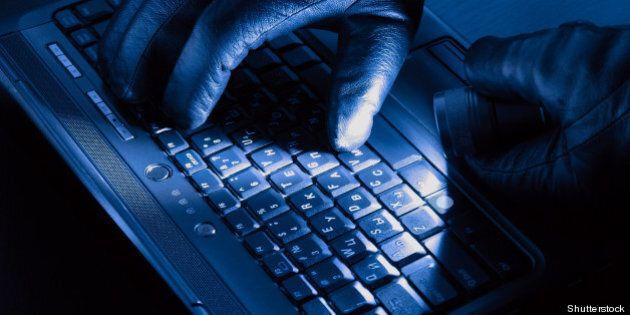 hands of hacker on a