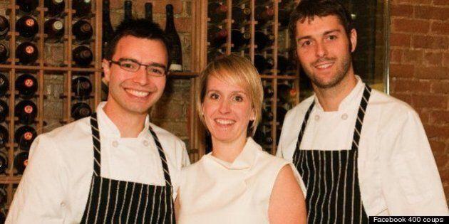 Marc-André Jetté, Patrice Demers et Marie-Josée Beaudoin quittent le restaurant Les 400