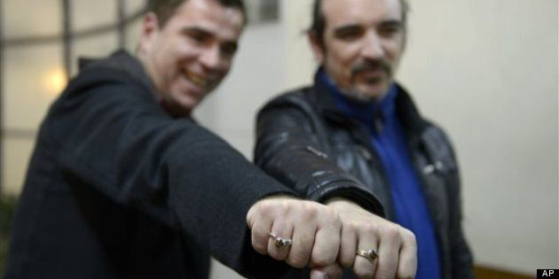 Un premier mariage homosexuel célébré en