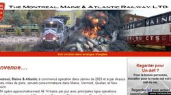 Lac-Mégantic: un faux site web se moque de la Montreal, Maine & Atlantic Railway... et de son