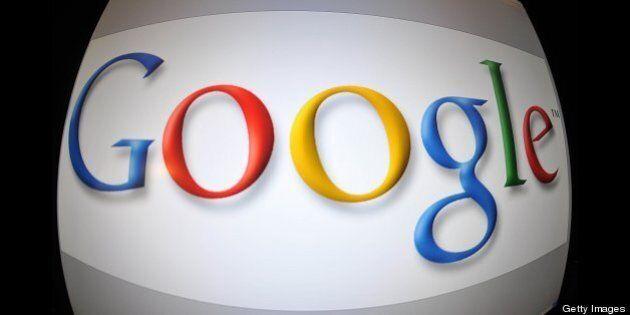 This January 11, 2011 screen imageshows the Google logo in Washington,DC. Google on January 11, 2011...