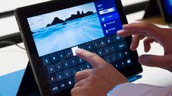 La tablette Surface de Microsoft moins