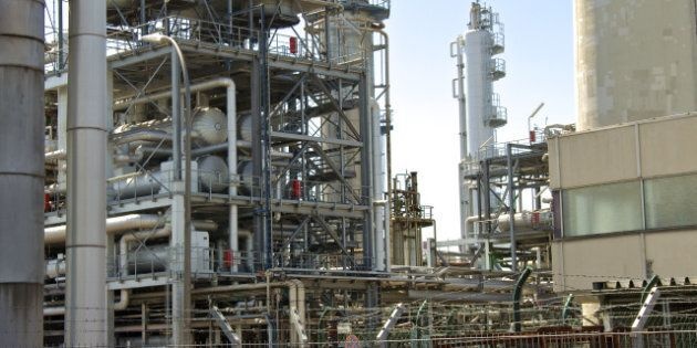 an oil refinery in the