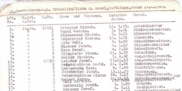 La liste de Schindler, vendue aux enchères sur