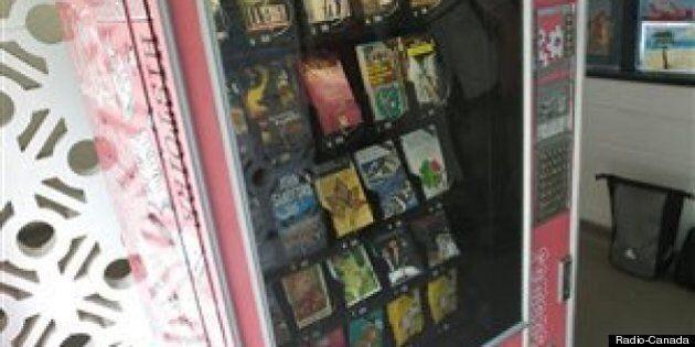Des machines distributrices de livres font leur apparition à
