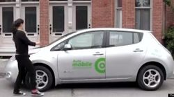 La voiture électrique en libre-service est offerte à une nouvelle