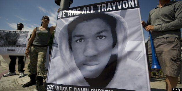 Americans angry at the acquittal of George Zimmerman in the death of black teen Trayvon Martin protest...